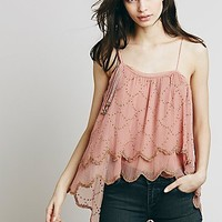 Free People Womens Embellished One Shoulder Top