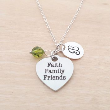 Faith Family Friends - Personalized Sterling Silver Necklace