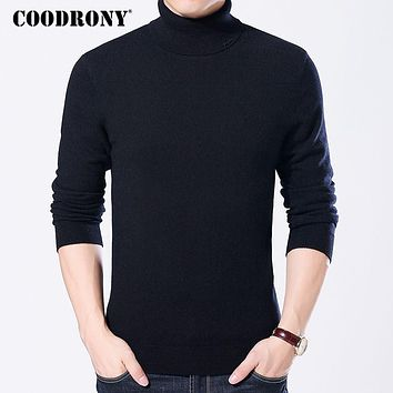 COODRONY 100% Merino Wool Sweater Men Winter Thick Warm Turtleneck Pullover Jumper Mens Knitted Cashmere Sweaters Pull Homme 325
