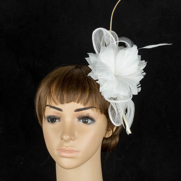 Fascinating multiple color sinamay  fascinator headwear  church millinery  hair accessoiry feather  suit for all seasons TMYQ078