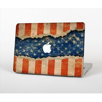 The Scratched Surface Peeled American Flag Skin Set for the Apple MacBook Pro 15""