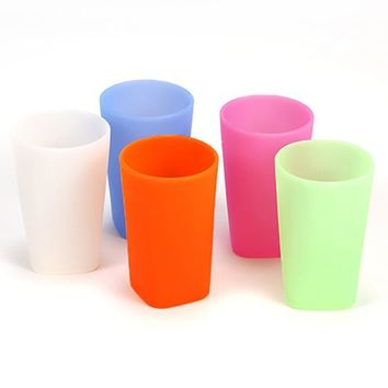 Baby Multi-color Silicone Drop Resistant Cup