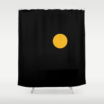 yellow point Shower Curtain by netzauge