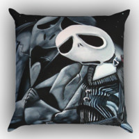 New Sad Jack Skellington Z1124 Zippered Pillows  Covers 16x16, 18x18, 20x20 Inches