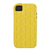 Yellow Decorative iPhone 4 Cases from Zazzle.com