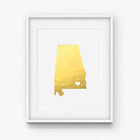 My Heart Belongs to Enterprise Gold Foil Print