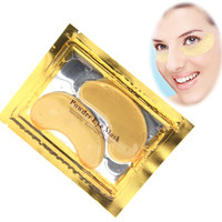 10pcs/5pairs Natural crystal collagen gold powder eye mask,Anti-Aging Face care Skin care Eye patches