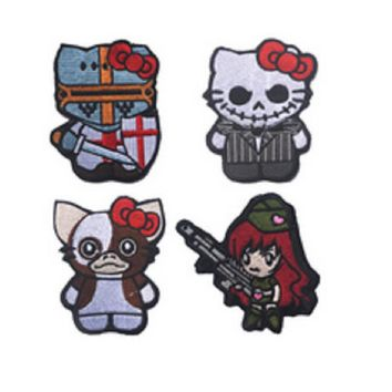 3D GUN GIRL patches Tactical monkey Embroidery patches  Loop And Hook Cross jundun armband chapter embroidery patches
