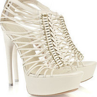 Alexander McQueen | Braided multi-strap leather sandals | NET-A-PORTER.COM