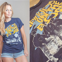 1989 New Kids On the Block Tshirt Small | Vintage 80s New Kids Tee | Soft Thin Faded Navy Blue Americana | 90s Grunge Boy Band 1980s Music
