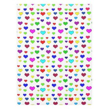 Heart Pattern Tablecloth