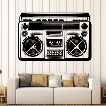 Large Wall Sticker Vinyl Decal 90 Retro Style Cassette Recorder Home Decor Unique Gift z4832