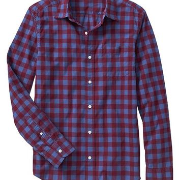 Gap Men Factory Print Poplin Pocket Shirt