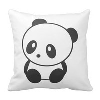Cute panda pillow