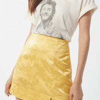 UO Satin Notch Mini Skirt | Urban Outfitters
