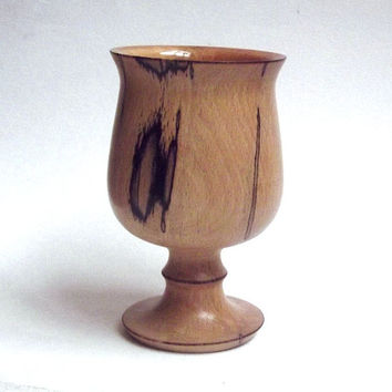 Wood Goblet - Turned from Spalted Beech. Wood Chalice, Woodturning, Wood Goblet, Altarware, Pagan, Wiccan, gift for men