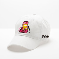 "Posh ft Soleboy Design Hat ""Plug Talk"" in White"