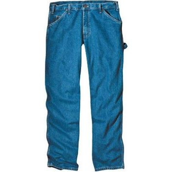 "Dickies 1993SNB3432 Relaxed Fit Carpenter Jeans, 34"" x 32"", SW Indigo Blue"