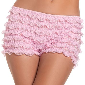 RuffledShorts Light Pink