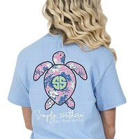Simply Southern Save The Turtles Tee - Blue