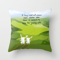 A Long Road Throw Pillow by Dale Keys   Society6