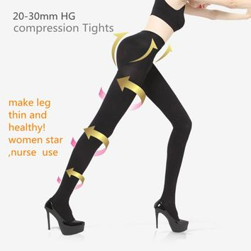 women Slim 680D Stockings Therapeutic 20-30 mmHg  rehabilitation therapy  680D Shaper Compression  TIGHTS Lycra  Pantyhose