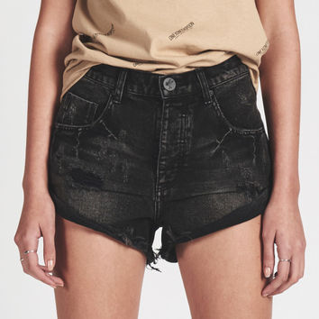 DOUBLE BASS BANDITS MID WAIST DENIM SHORT