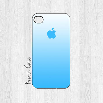 iPhone 4 case, iPhone 4S case - Ombre Blue / White - Apple - K185