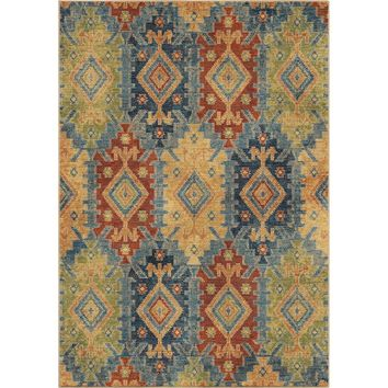 Orian Bohemian Distressed Borego Medallion Area Rug