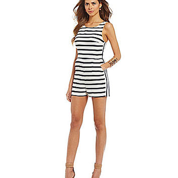 Gianni Bini Mara Striped Romper | Dillards.com