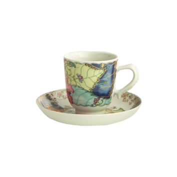 Mottahedeh Tobacco Demitasse Cup and Saucer