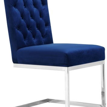 Carlton Navy Velvet Dining Chair (set of 2)