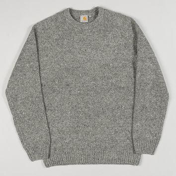 Carhartt Anglistic Sweater Dark Grey Heather