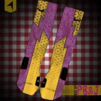 KD VI PB&J Custom Nike Elite Socks | Rock 'Em Apparel