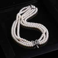 Stylish Gift Shiny New Arrival Jewelry Pearls 925 Silver Butterfly Accessory Necklace [4914882244]