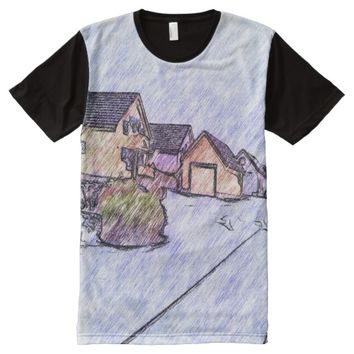 Many houses drawing All-Over-Print shirt