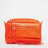 Calvin Klein Izzy X Body Bag in Orange