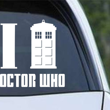 Doctor Who - I Tardis Dr Who Die Cut Vinyl Decal Sticker