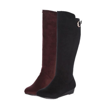 Womens Napping Knee Boots Slip-Sole Winter High Knight Boots. = 1705114436