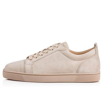 Christian Louboutin Cl Louis Junior Men's Flat Colombe Suede 13s Sneakers - Ready Stock