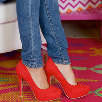 Looking For Trouble Heels- Red