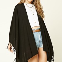 Draped Tasseled Sweater Shawl