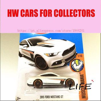 LMFLD1 Hot 1:64 Cars wheels 2015 whtie mustang gt Car Models Metal Diecast Cars Collection Kids Toys Vehicle For Children Juguetes