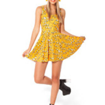 Adventure Time Jake Scoop Neck Summer Skater Dress