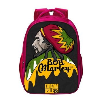 Classic Bob Marley Backpacks For Girls Children Kids Red Bookbags New Travel Bag Women School Bags Big Capacity School Bag Gifts