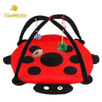 Foldable Cat Dog Tents Fun Red Puppy Kitten Play Beds Pets Animals Sleeping Place Pet Accessories Free Shipping