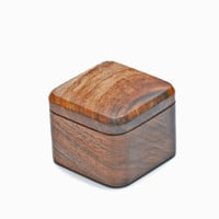 Wooden Engagiment Proposal Ring Box, Small & Stylish Walnut wood - MADE TO ORDER