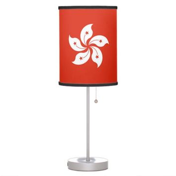 Patriotic table lamp with Flag of Hong Kong