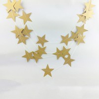 New 4M Paper Garlands Birthday Wedding Mariage Party Room Door Festival Star Decoration Gold Blue