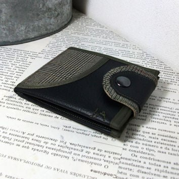 Monogram Wallet, Vegan Leather Wallet for Men, Bifold Wallet for Man for Woman with Coin Pocket, Card Slots - UNUSUAL Wallet